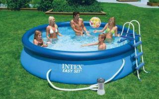 Как надуть частный бассейн без специального насоса