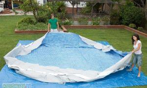 Этап 3. Правильная установка каркасного бассейна на подготовленной площадке