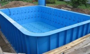 Этап 2. Устанавливаем пластиковую чашу бассейна