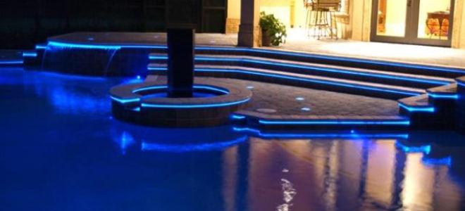 Как сделать цветную подсветку для бассейна своими руками