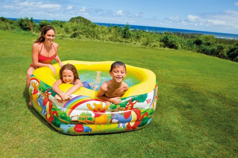 Детский бассейн, для которого не требуется площадка