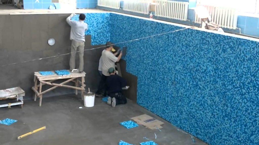 Облицовка резервуара мозаикой