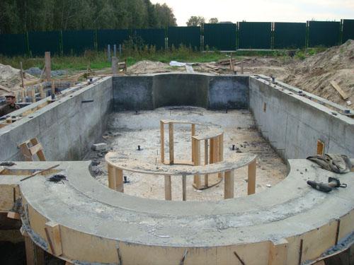 Расчет стоимости бетонного бассейна