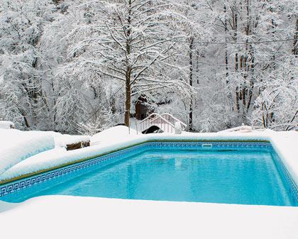Круглогодичный резервуар зимой